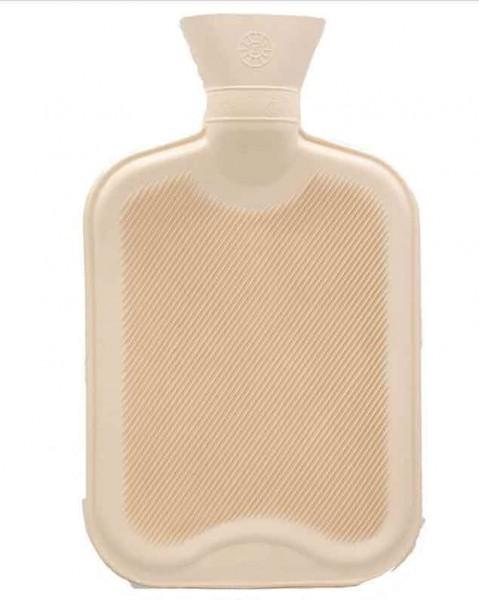 Wärmflasche ohne Bezug – beige – 33x20 cm